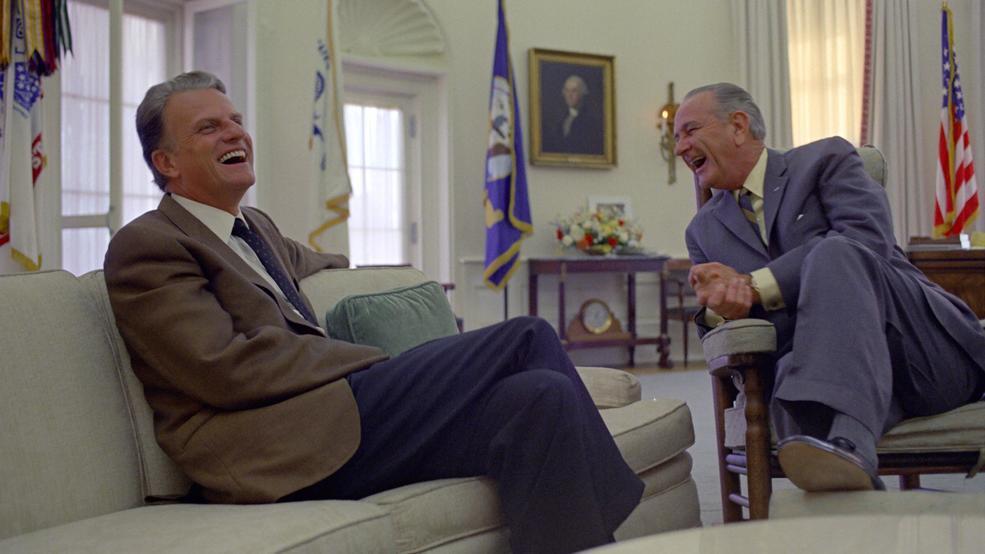 Rev Billy Graham was close personal friend to LBJ KEYE