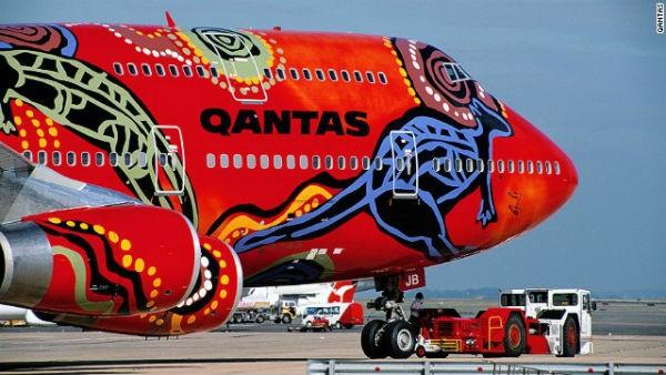 Qantas has some of the most colorful liveries around. Back in 1994 it commissioned the aboriginal-themed Wunala Dreaming design for the side of a Boeing 747.