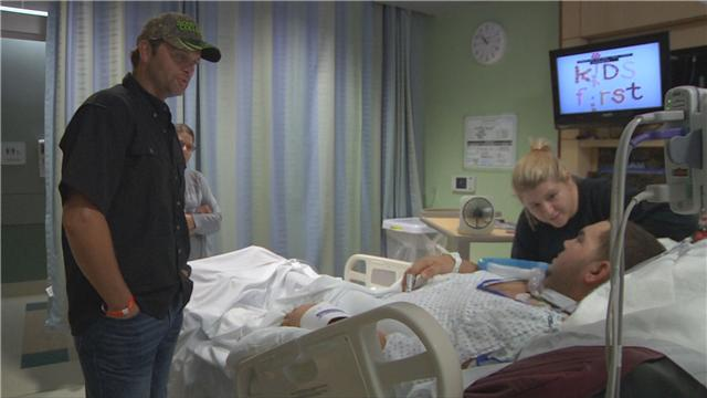 Hospitalized Dillon City police officer Jacob Richardson got a surprise visit from The Outdoor Channel's Michael Waddell. (WPDE file image)
