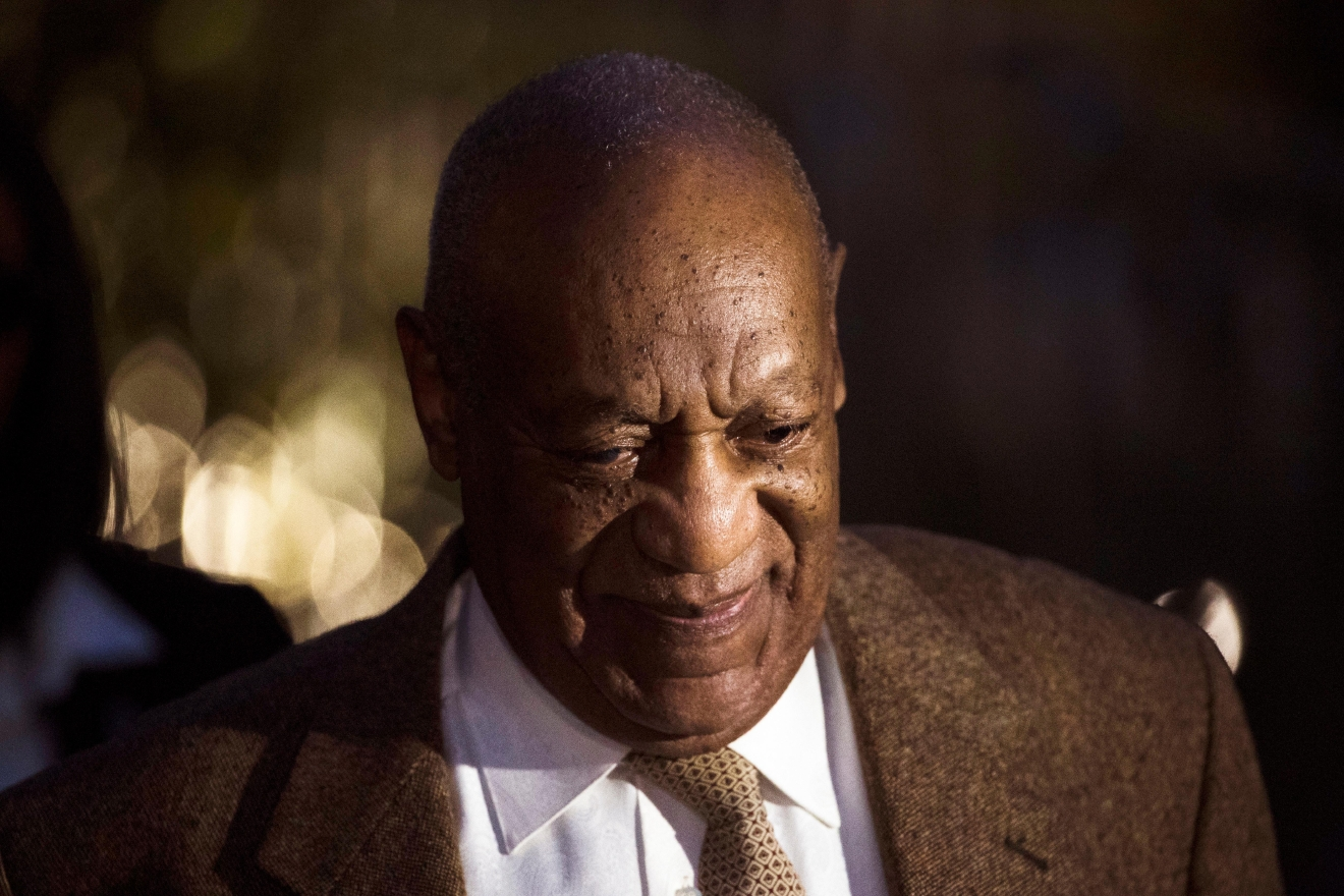 FILE- In this Dec. 14, 2016, file photo, Bill Cosby departs after a pretrial hearing in his sexual assault case at the Montgomery County Courthouse in Norristown, Pa. A federal judge in Massachusetts on Thursday, Feb. 16, 2017, dismissed a defamation lawsuit against Cosby, although he still faces criminal charges in Pennsylvania. (AP Photo/Matt Rourke, File)