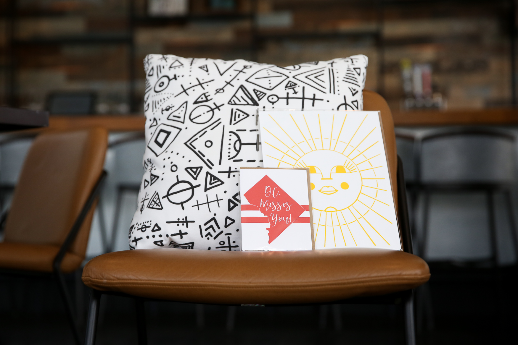 Pillow and cards by Teluna (https://www.telunalife.com/){ } (Amanda Andrade-Rhoades/DC Refined)