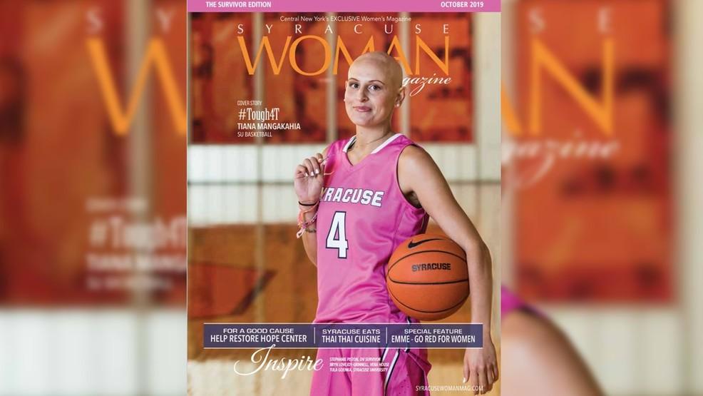 SU hoops star Tiana Mangakahia featured on cover of Syracuse Woman Magazine