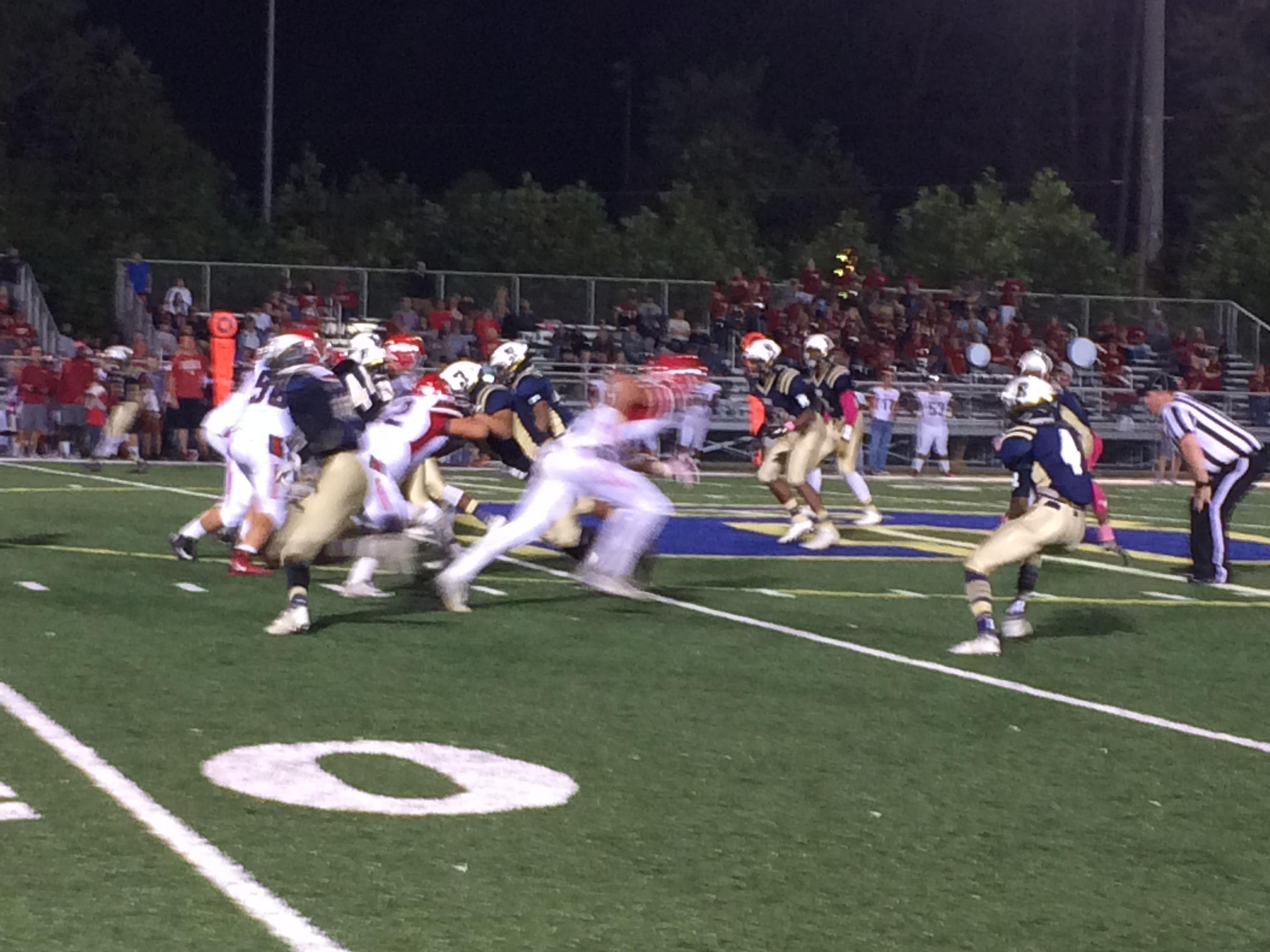Erwin vs TC Roberson, 10-06-2017 (Photo credit: WLOS Staff)