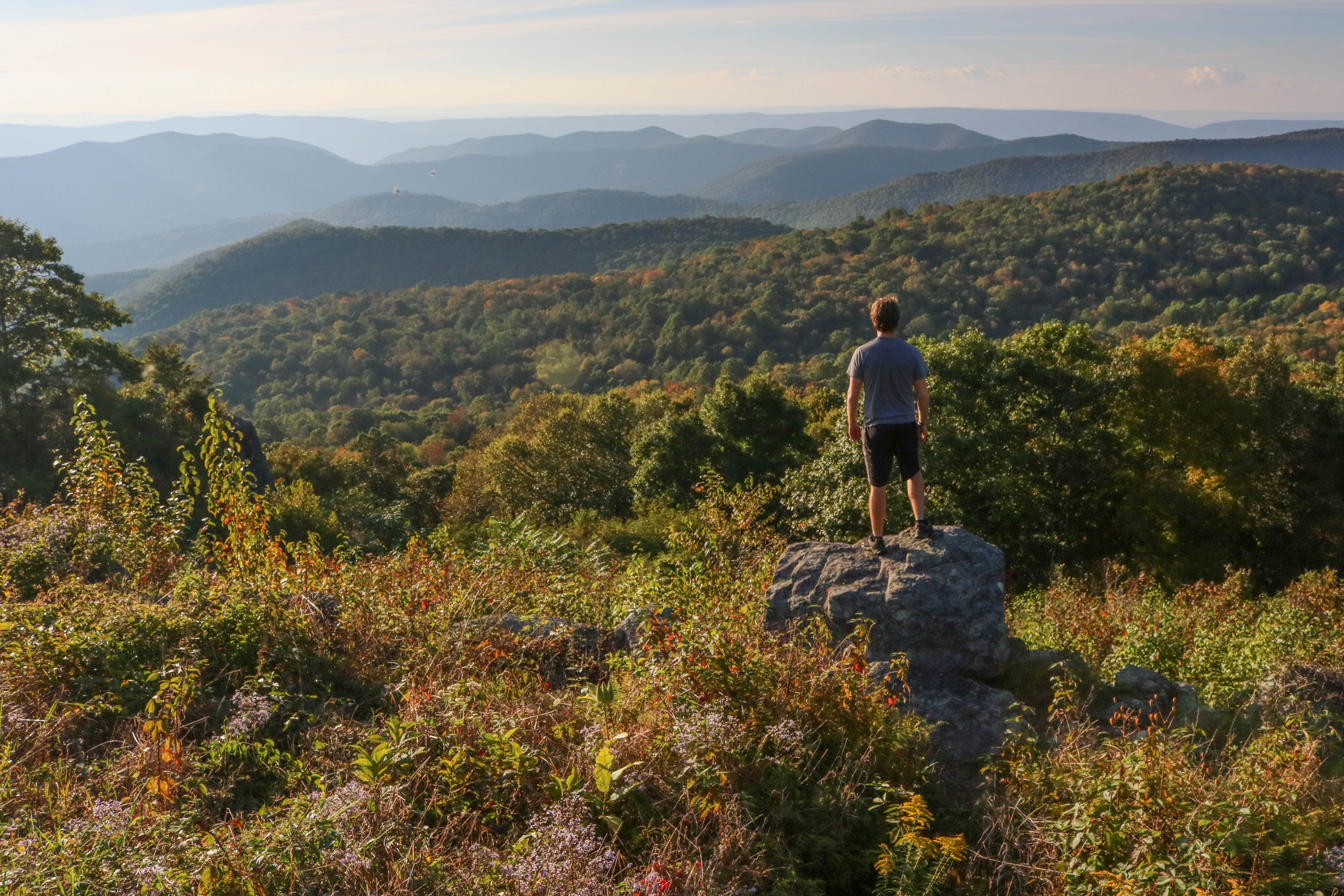More than 100 miles of the 2,180-mile long trail snakes its way through the park. Much of it is close to Skyline Drive, so it's easy to access if you'd like to trek only a portion of it.{ }(File photo)