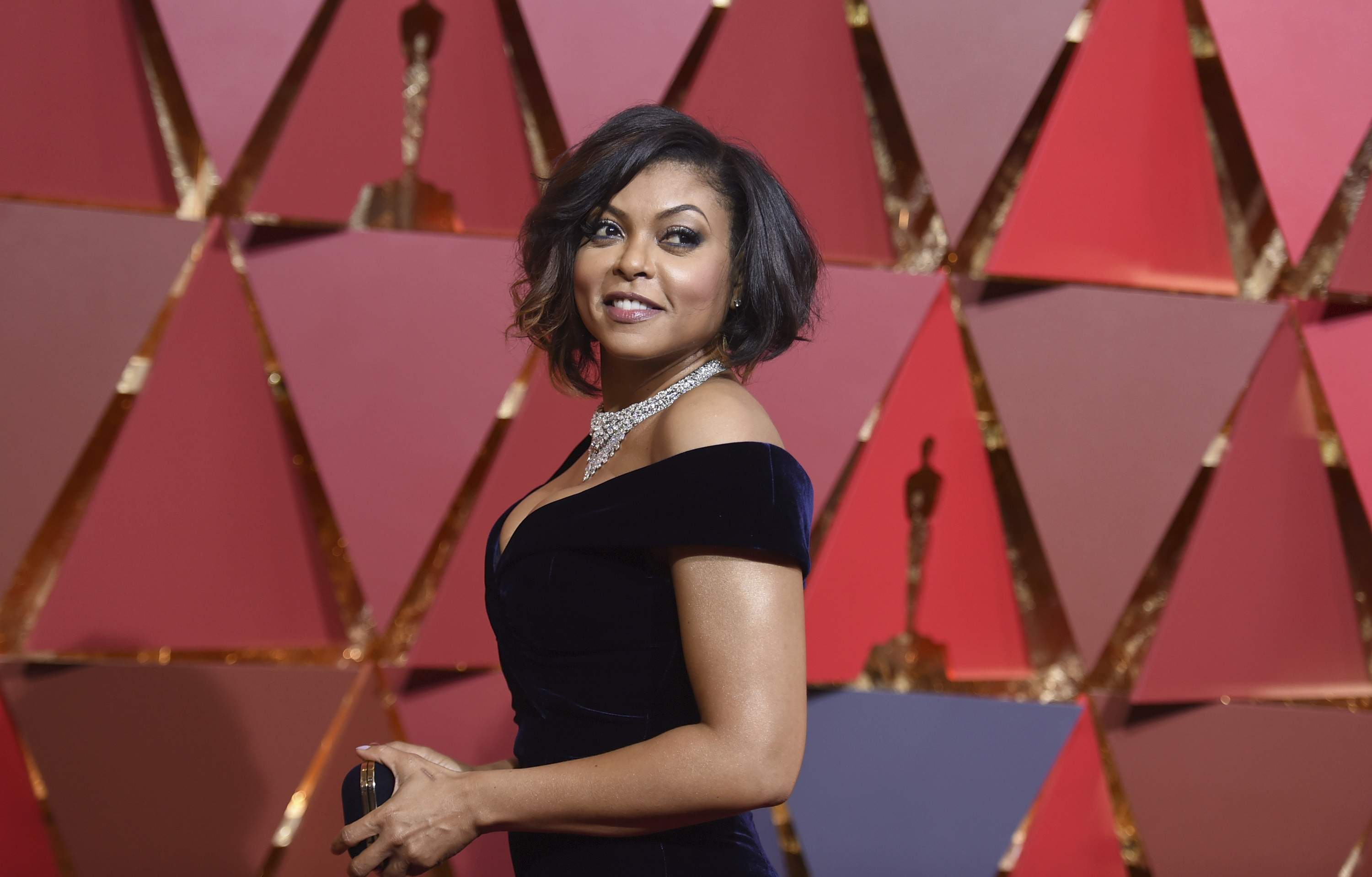 Taraji P. Henson arrives at the Oscars on Sunday, Feb. 26, 2017, at the Dolby Theatre in Los Angeles. THE ASSOCIATED PRESS