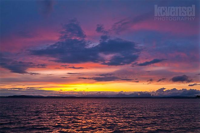 Seattle sunset from Pier 70 (Photo Courtesy: KCVensel Photography)