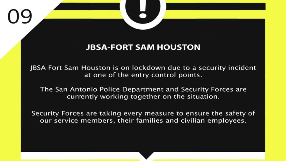 update vehicle ran gate at jbsa fort sam houston lockdown lifted