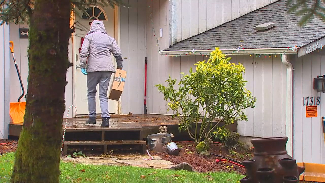 A North Bend neighborhood says they're tried of their packages being tossed around. Their mail carrier has been seen on multiple security cameras tossing packages onto porches instead of walking them to the doorsteps. (Photo: KOMO News)