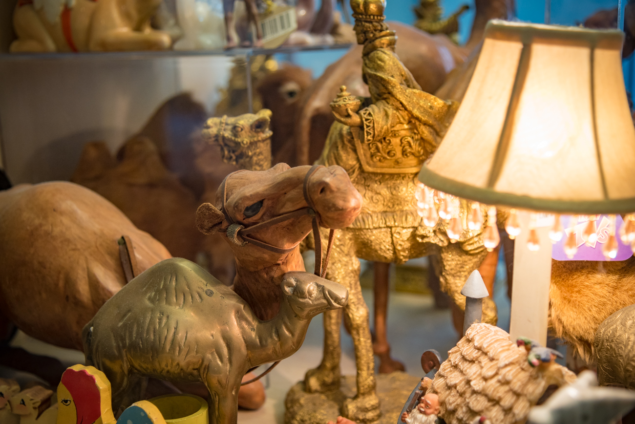 Inside the 21c Hotel's entrance sits a large, impressive display filled with camel memorabilia. The collection used to belong to Melvin and Johanna Lute, former residents and managers of the Metropole building from 2002 to 2010. They'd collected camels since 1992, and eventually gave it all to the hotel when it was renovated. ADDRESS: 609 Walnut St, Cincinnati, OH 45202 / Image: Phil Armstrong, Cincinnati Refined // Published: 4.13.17