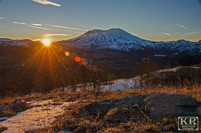 Sunrise at Mt. St. Helens (Photo: Kevin Russell, KR Backwoods Photography)