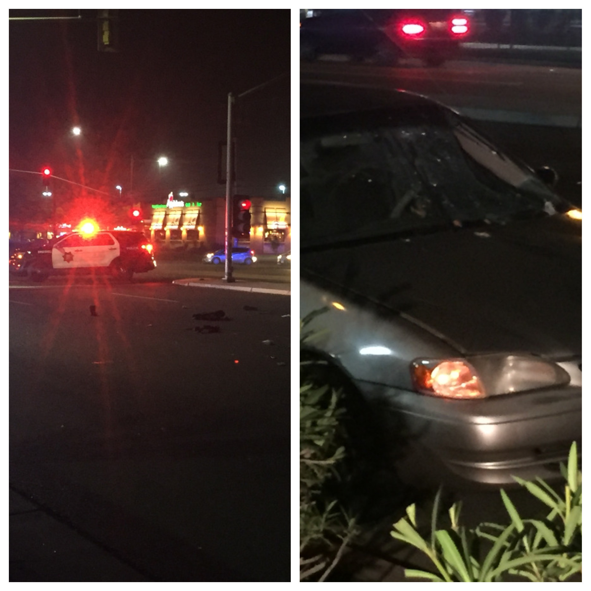 <p>Fresno P.D. is investigating an auto-pedestrian crash in Northeast Fresno. It happened just before 8:00 p.m. Friday near the intersection of Cedar and Herndon</p>