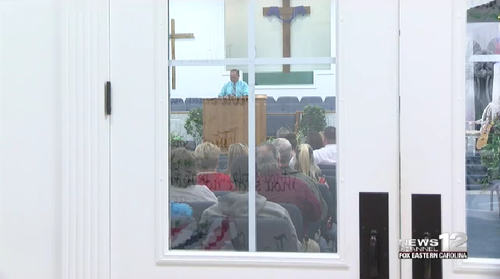Prayer vigil held for missing 3-year-old Mariah Woods. (NewsChannel 12 photo)