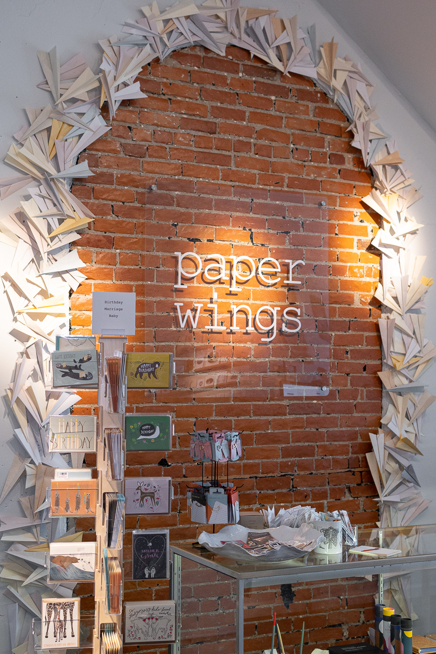 Paper Wings blurs the lines between art gallery and paper goods shop. Everything offered in the store is carefully curated; the inventory is both beautiful and useful. Fans of MiCA will find Paper Wings equally as appealing. / Image: Phil Armstrong, Cincinnati Refined // Published: 8.21.19