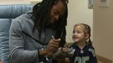 Richard Sherman surprises 4-year-old hospital patient who lost her favorite doll