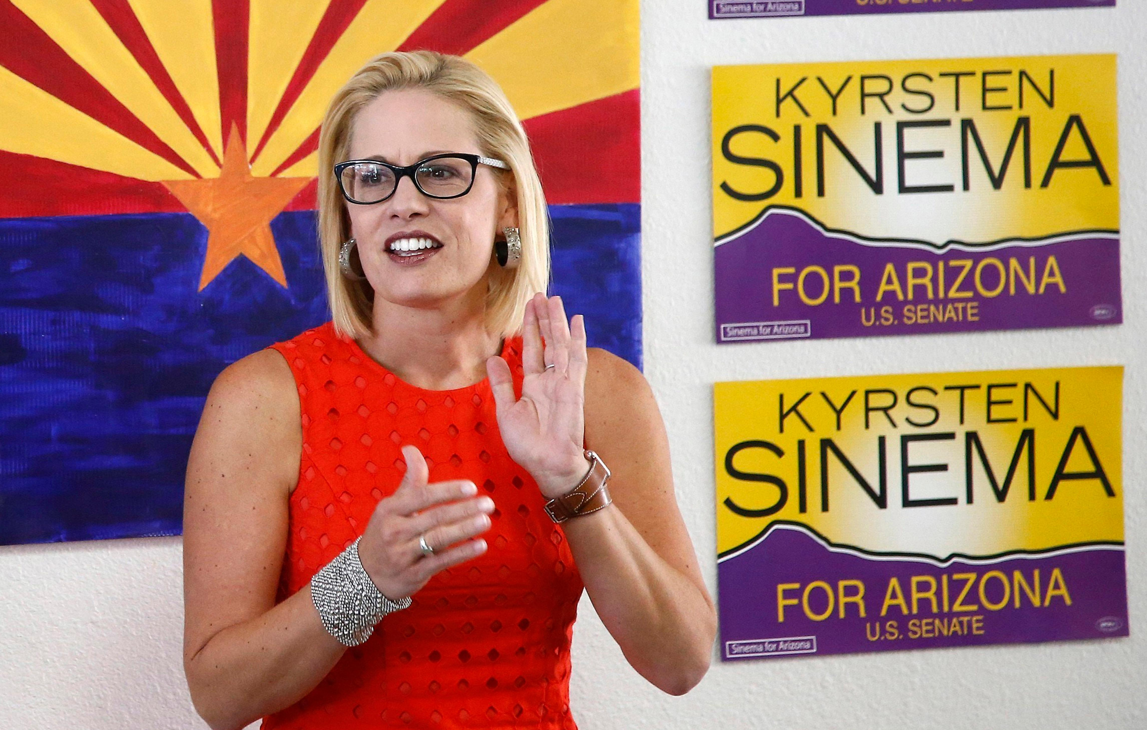 US Senate candidate, Kyrsten Sinema, is being criticized for her tacit support of the Taliban stemming from an answer she gave in a 2003 interview. KVI's David Boze compares the lack of media scrutiny applied to Sinema right now with the tidal wave of scrutiny heaped on a female Republican US Senate candidate back in 2010 regarding her off-handed comments about witchcraft. AP Photo/Ross D. Franklin, file)