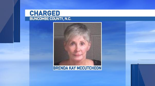 The Buncombe County Magistrates Office confirms Brenda Kay McCutcheon, 67, turned herself into authorities just before 7 a.m. Thursday morning. (Photo credit: VineLink)