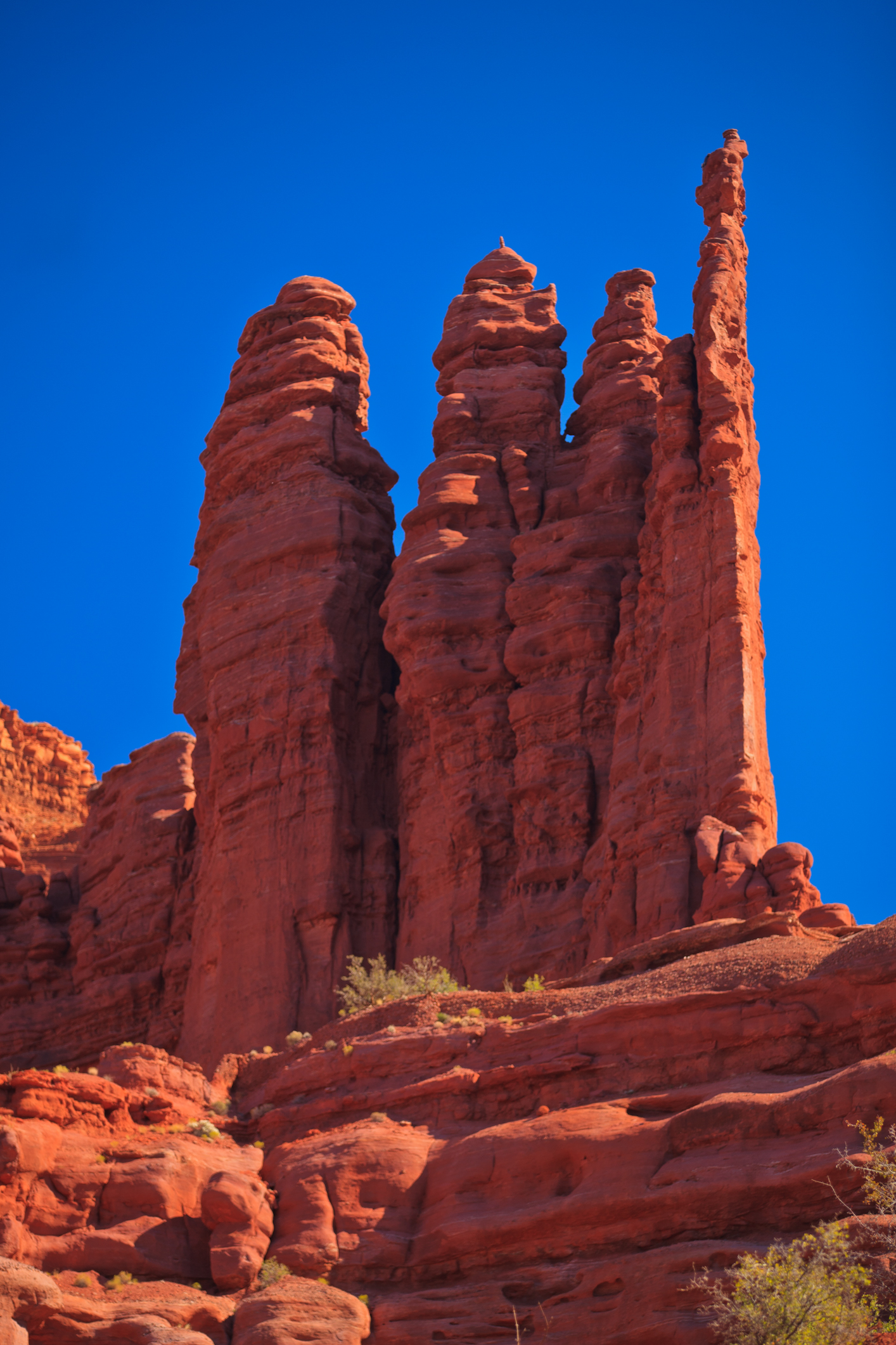 Fisher Towers area in Arches National Park near Moab, Utah will have hot temperatures this week. (Photo: KUTV)