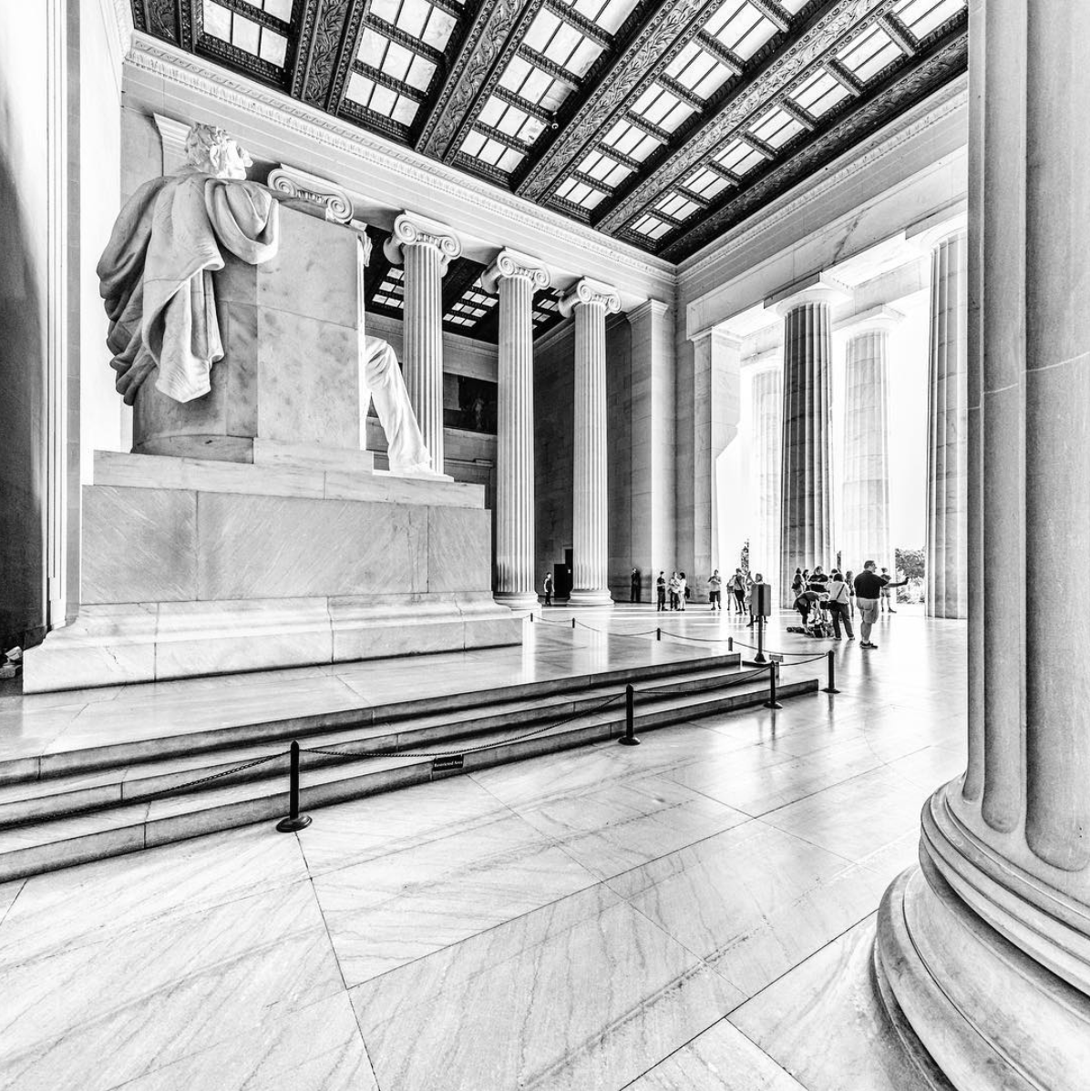 We've never seen this view of the Lincoln Memorial. (Image via @kevin.otoole)