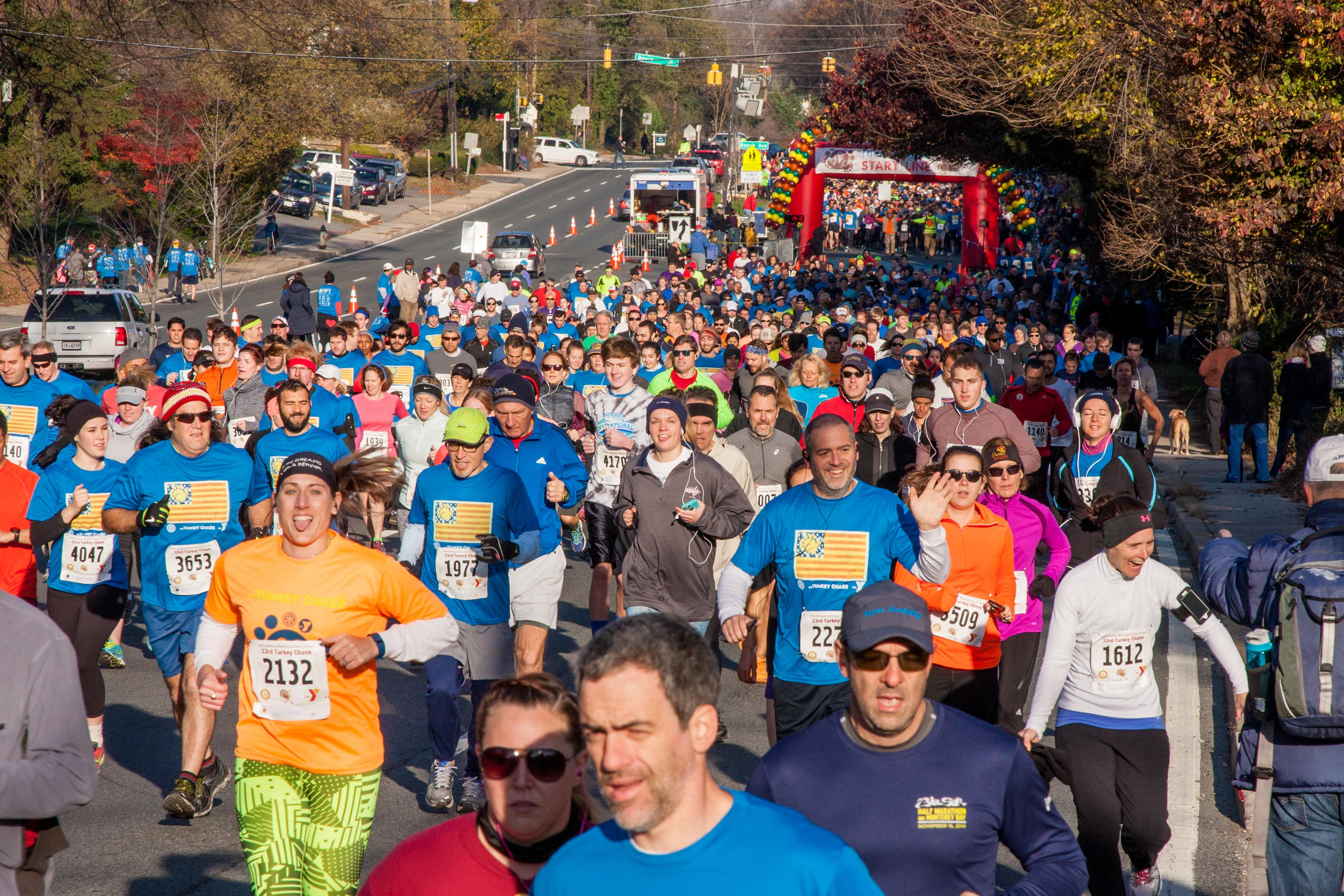 Check out all the local race options happening across the city Thanksgiving morning, the perfect way to start your day with a good sweat. (Photo Credit: YMCA Bethesda Turkey Chase)<p></p><p><br></p>