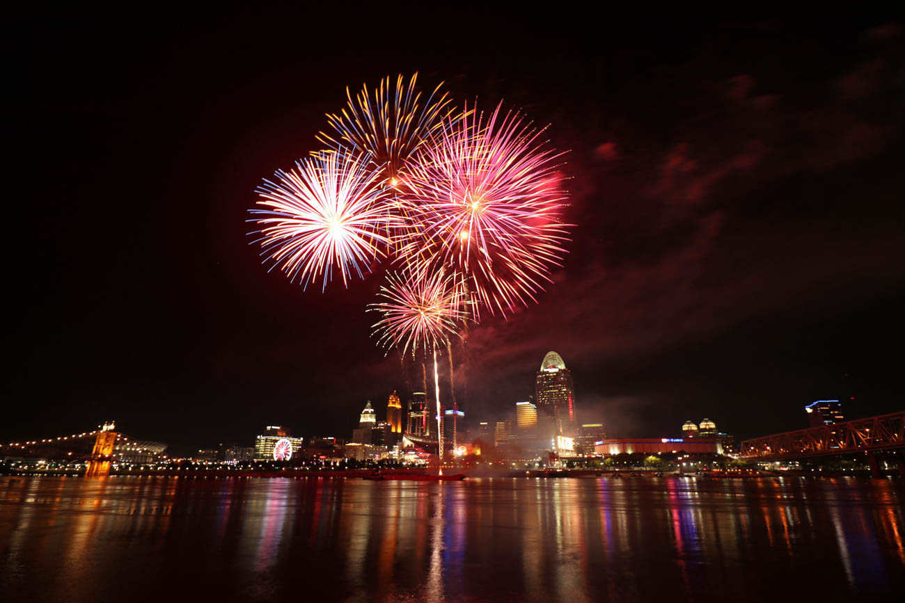 "<p>If you want to get experience shooting fireworks, Larry advises to take advantage of the Cincinnati Reds' ""Fireworks Fridays."" He says it's best to get the shots at the beginning of the show to avoid the build-up of smoke messing up your shots. / Image: Larry Thomas // Published: 1.16.19</p>"