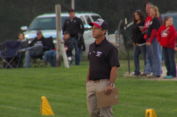 Amherst head coach Ron Evans is an assistant for the North team in the 2017 Nebraska Shrine Bowl (NTV News)