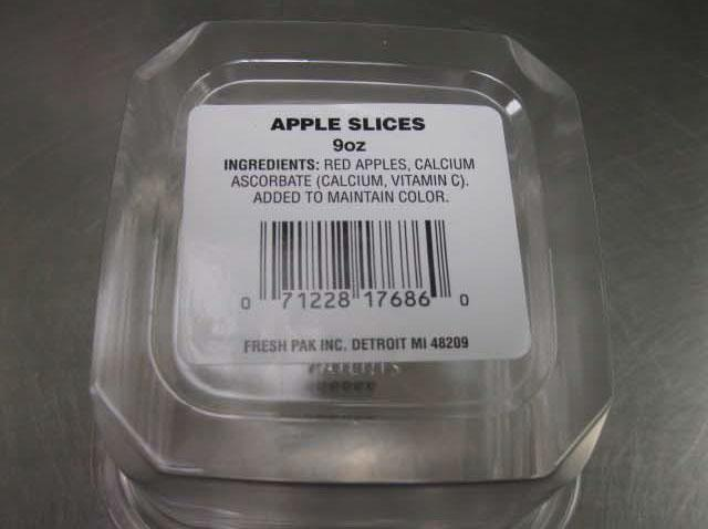 The sliced apples were recalled by Fresh Pak.