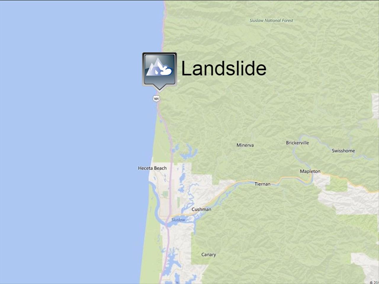 A Landslide Near Heceta Head Lighthouse State Park Closed U S 101 Until Further Notice Sunday
