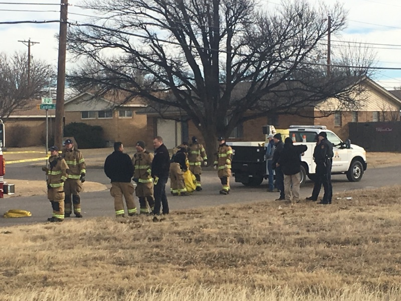 "Several Amarillo, Texas authorities are on location where at least four people have died following a ""HAZMAT incident"" in Northeast Amarillo on Monday, Jan. 2, 2017. (KVII/Kase Wilbanks)"