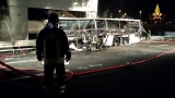 16 killed in fiery bus crash on Italian highway