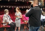 FOX 11's Emily Deem interviews Good Day Wisconsin Broadway Nights finalist Helen Raddant April 13, 2017, at the Fox Cities Performing Arts Center in Appleton.
