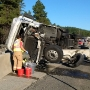 Semi-truck rollover crash snarls I-90 traffic east of Cle Elum