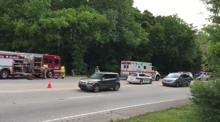 Police had to close the southbound lanes for several hours to conduct the investigation. (Image: WTVC)