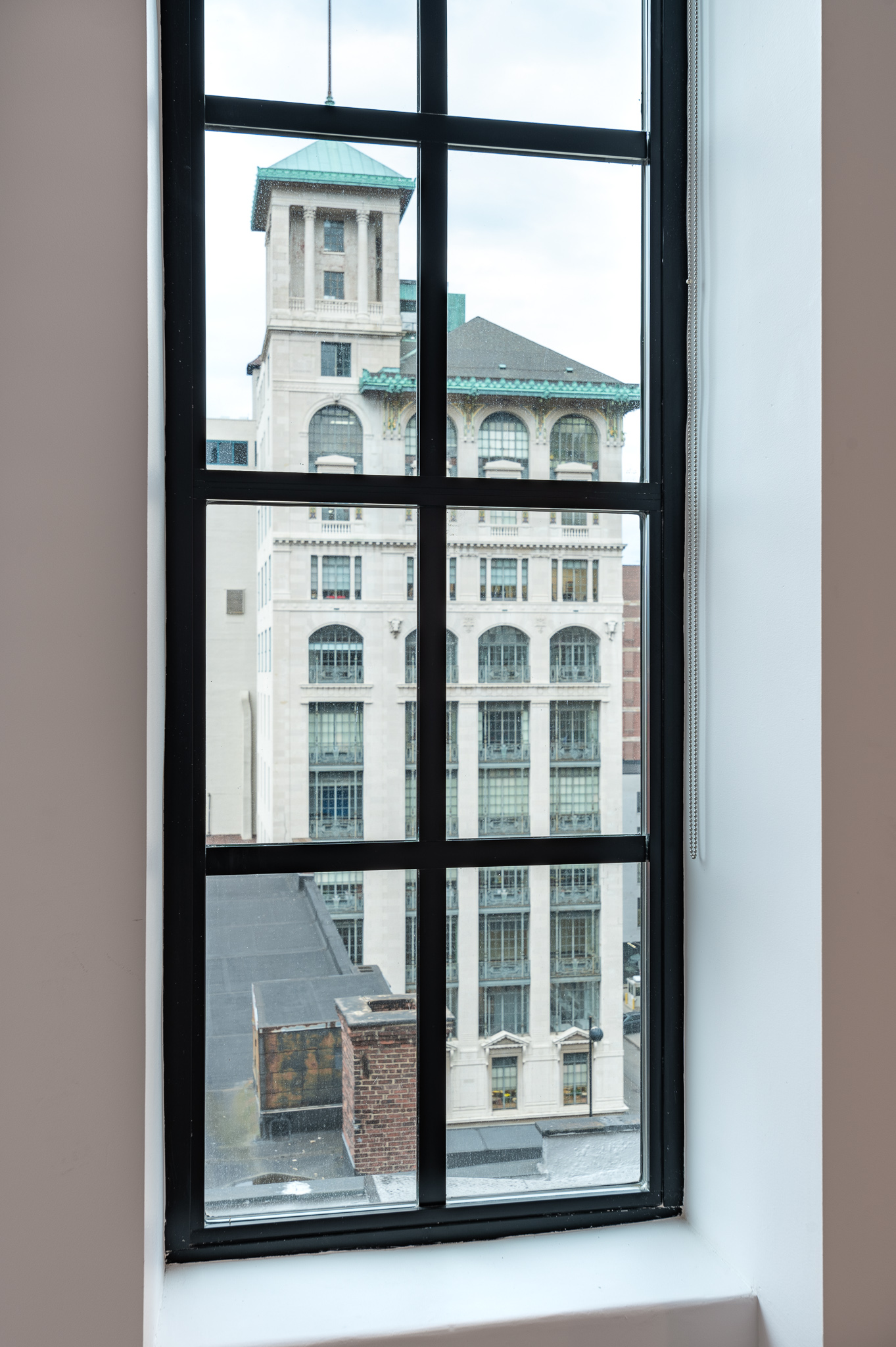 Sixth Street Exchange's upper floors have great views of Downtown and surrounding buildings, such as the Gwynne Building to the east. / Image: Phil Armstrong, Cincinnati Refined // Published: 12.25.19