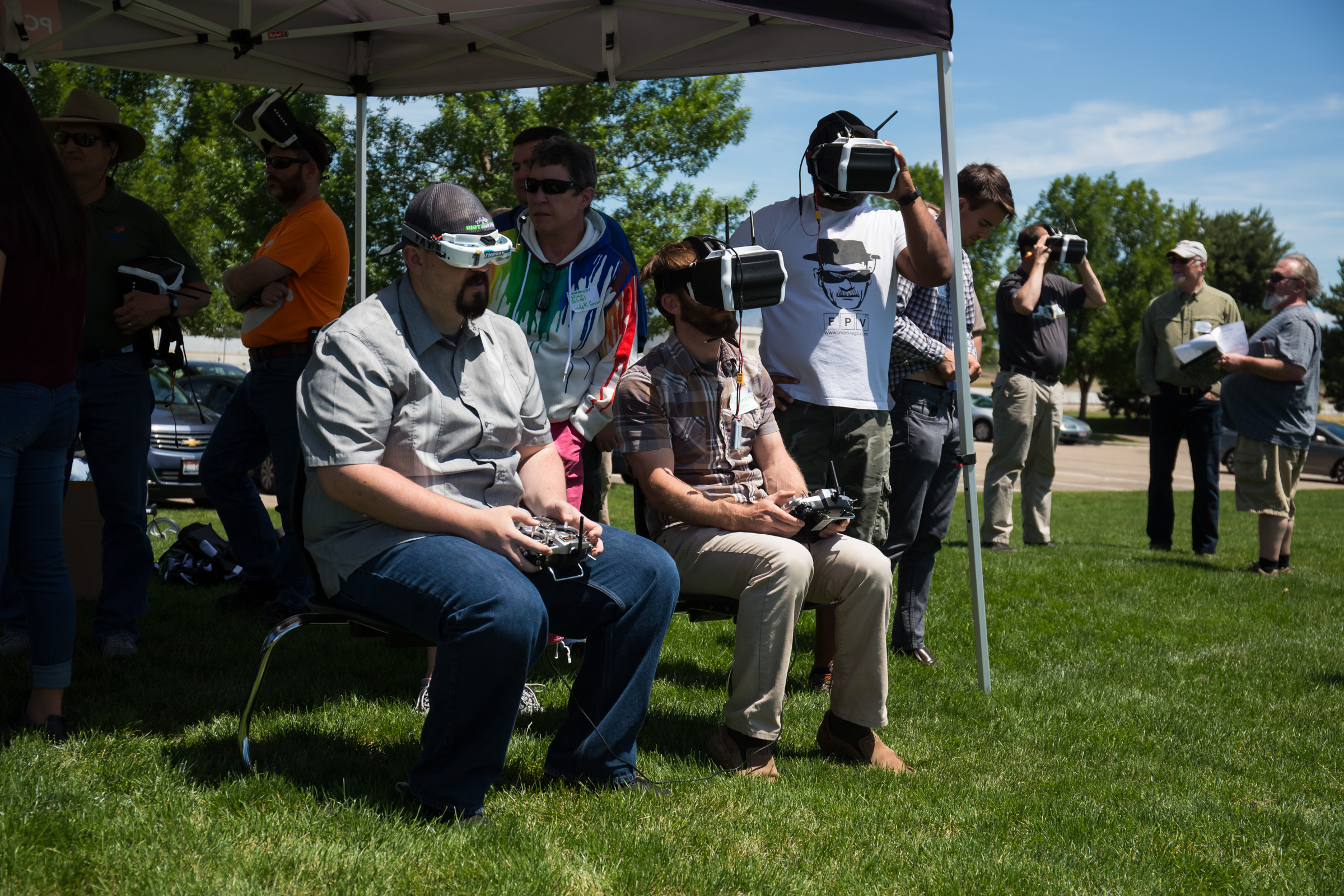BOISE, Idaho (June 14, 2017) — Teachers and librarians from 23 sites throughout the Gem State attended drone flight school June 13-14, 2017, in the Treasure Valley. The Idaho STEM Action Center awarded more than $147,000 in grants to equip and train participants with Thrust-UAV drones from Idaho-based PCS Edventures and FPV goggles that allow first-person view piloting. (Photo by Otto Kitsinger for Idaho STEM Action Center)