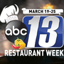 Celebrate with our ABC 13 Restaurant Week March 19-25