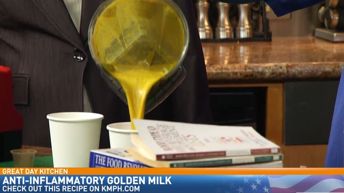 Chef Naomi Hendrix making{ }Anti-inflammatory Golden Milk