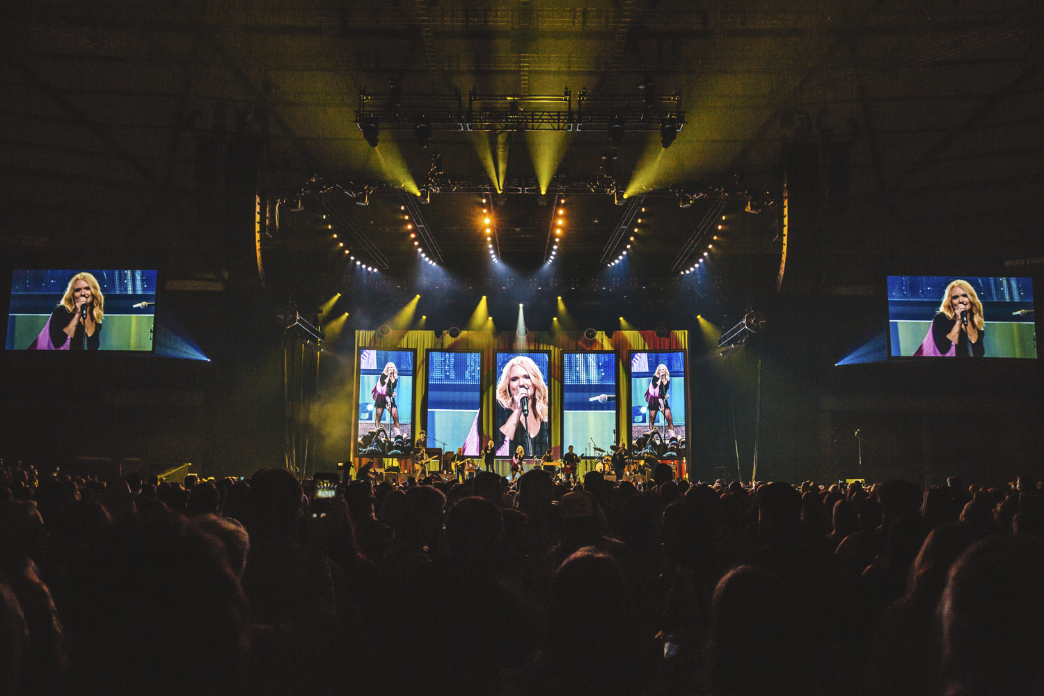 The Livin' Like Hippies Tour swung by Tacoma last night (February 1, 2018) as one of the Queens of Country herself, Ms. Miranda Lambert, left it all on the floor at the Dome. The stop was Lambert's first on the tour; she'll go on to play 20 other shows throughout the country, ending in March 2018. (Image: Sunita Martini / Seattle Refined){ }