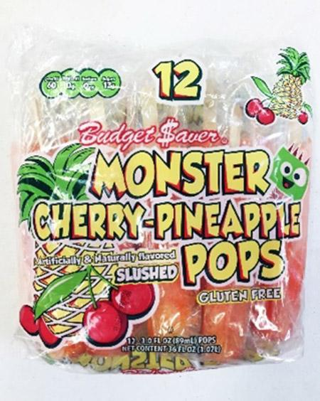 The Ziegenfelder Company is voluntarily recalling approximately 3,000 cases of Budget $aver Cherry Pineapple Monster Pops and Sugar Free Twin Pops because of the possibility of listeria contamination. Photo courtesy FDA