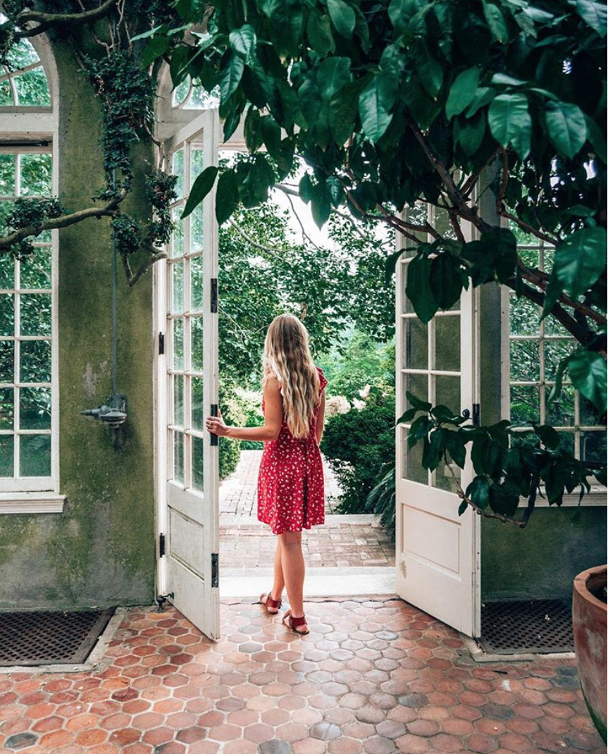 You can explore in style at Dumbarton Oaks. (Image via @krispylittman)