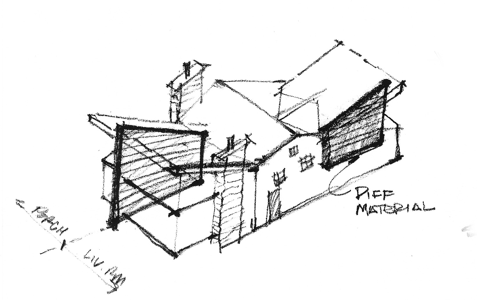 Contemporary addition sketch (Luther Weber)