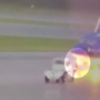 Surveillance video shows lightning striking plane, hospitalizing airport worker