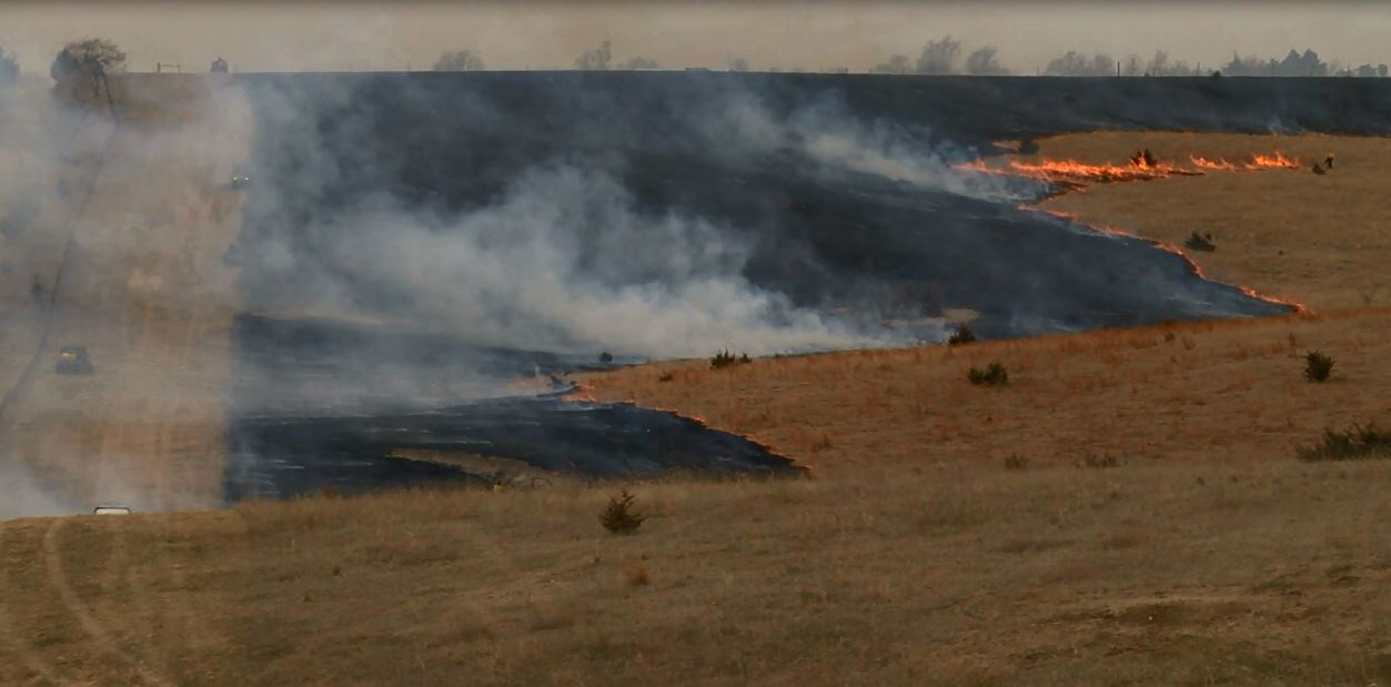 A rancher in Sherman County set his pasture on fire Thursday, and watched it go up in flames. He hopes more nutritious food for his cattle will rise from the ashes. (NTV/Ifesinachi Egbosimba)