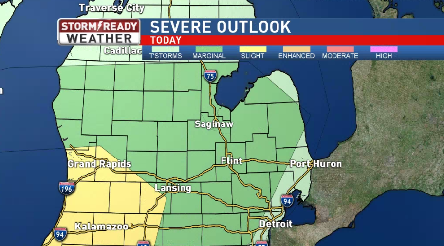 There's a marginal risk for severe weather on Saturday night.<p></p>
