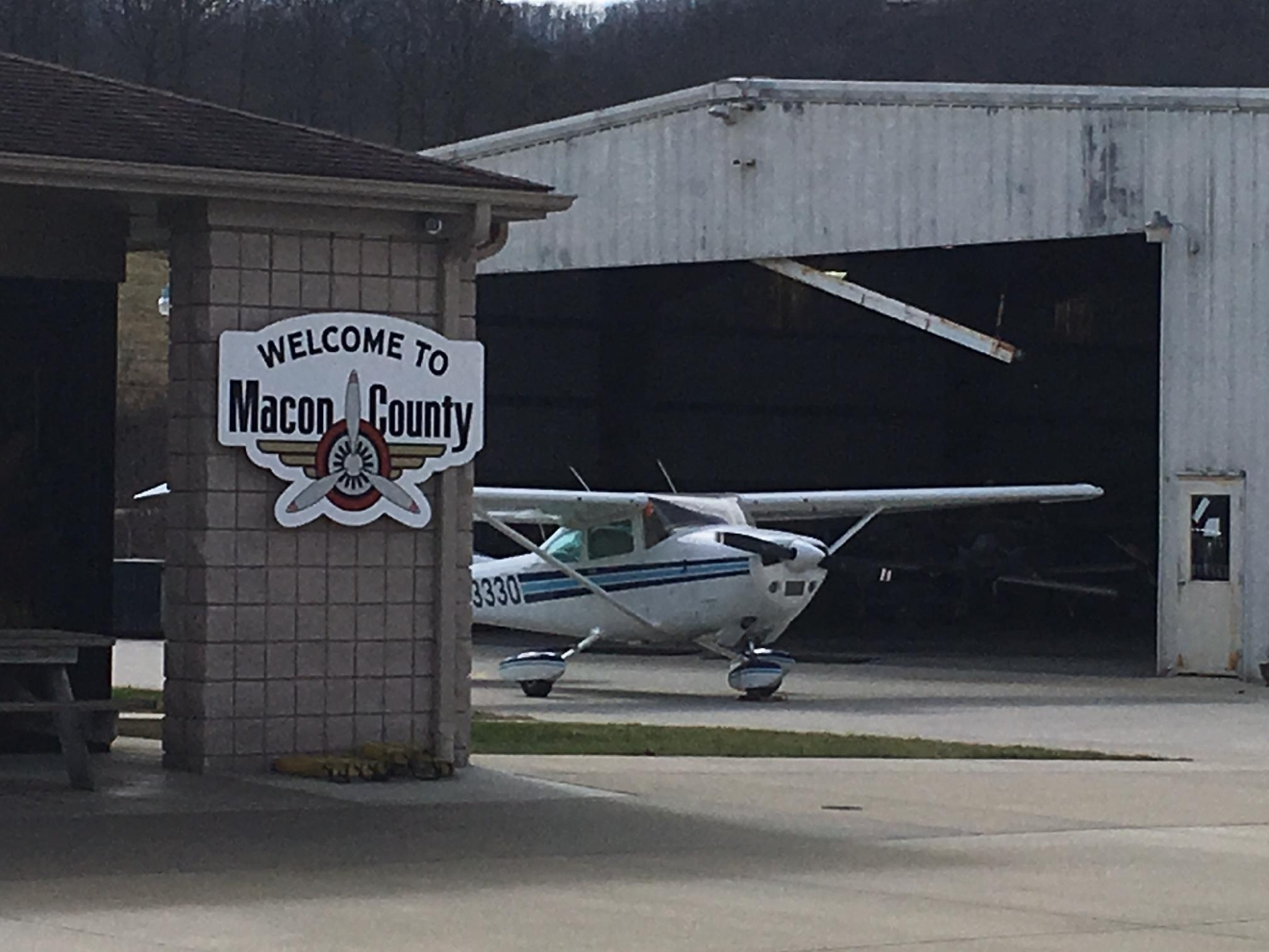 The North Carolina Department of Transportation is approving a $4.5 million project to add 1,000 feet to the runway at Macon County Airport. (Photo credit: WLOS staff)