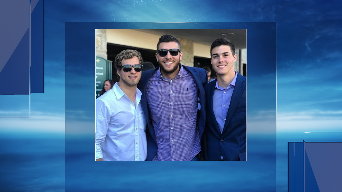 Justin King (far left), Houston Wallace (far right) died in a crash on Wednesday night.