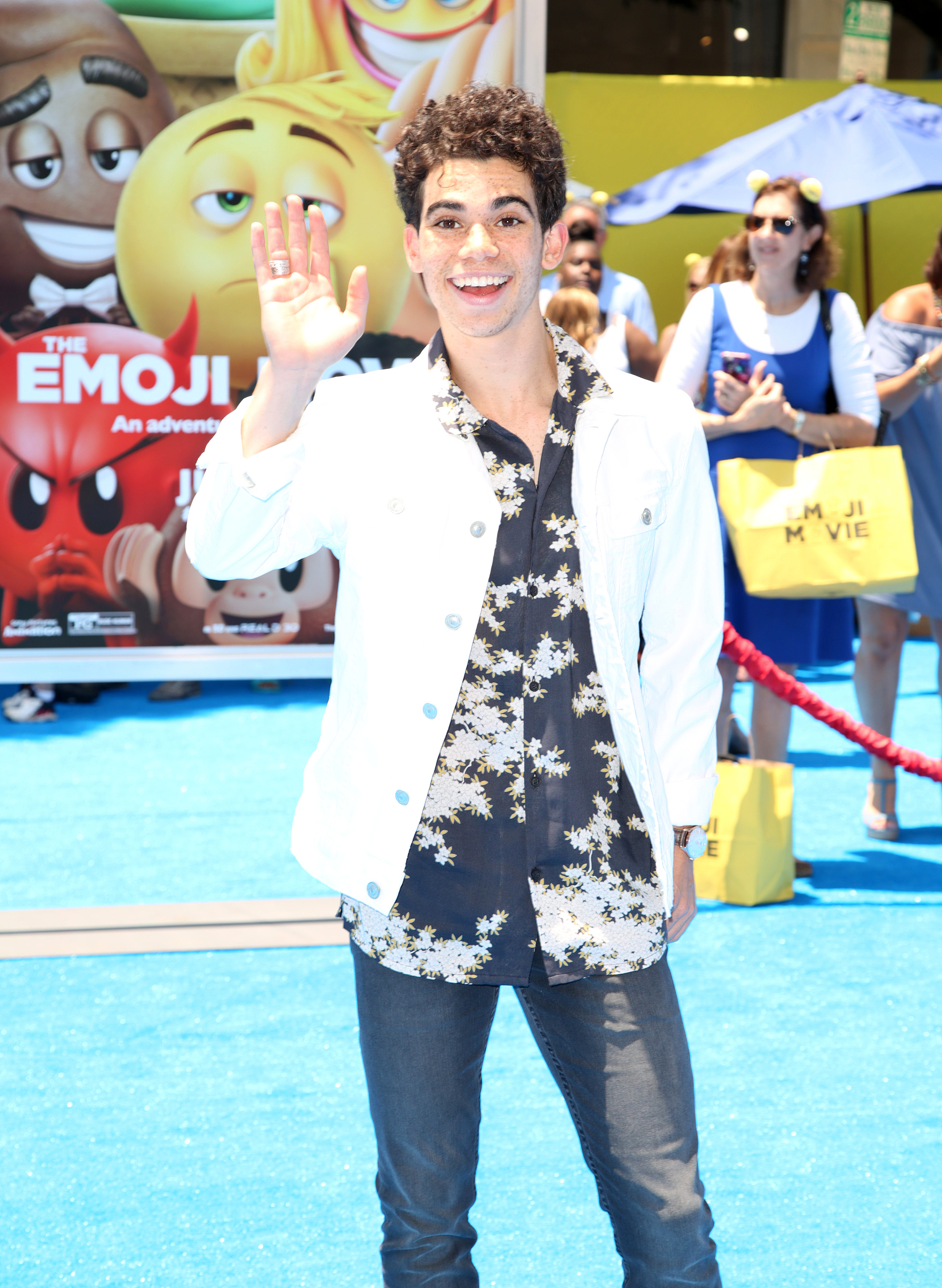 Celebrities attend The World Premiere of 'The Emoji Movie' at Regency Village Theatre in Westwood                                    Featuring: Cameron Boyce                  Where: Los Angeles, California, United States                  When: 23 Jul 2017                  Credit: Brian To/WENN.com