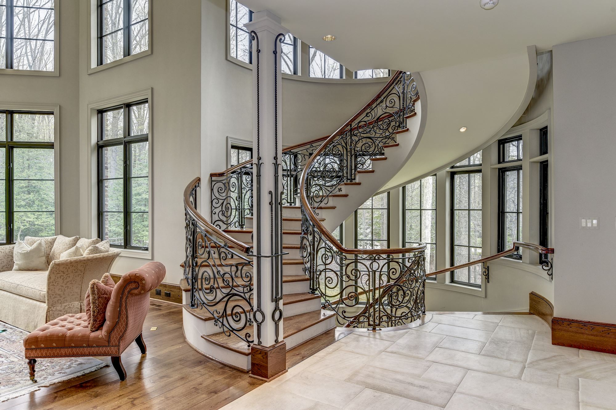 If you've ever had dreams of living in a European chateau, overlooking a 10-acre bird sanctuary or living in the neighborhood that houses the PGA tour, we have news for you. A 15,000-square-foot 6-bedroom/9-bath home in Potomac's exclusive Avenel neighborhood has just come on the market. (Image: Courtesy HomeVisit)