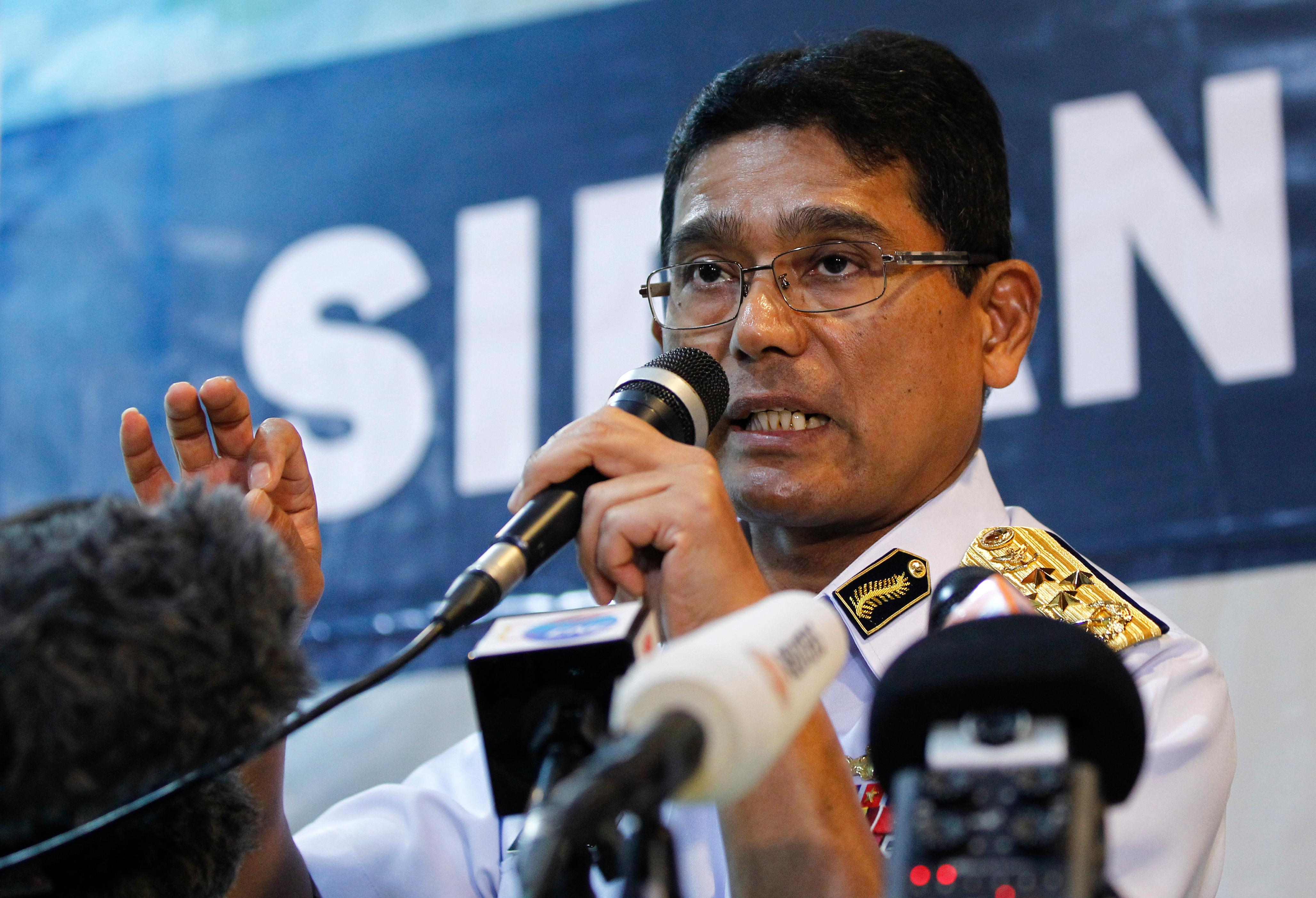 "Malaysian Maritime Director Indera Abu Bakar speaks during a press conference about a collision of the USS John S. McCain in Putrajaya, Malaysia, Monday, Aug. 21, 2017. The U.S. Navy said the USS John S. McCain arrived at Singapore's naval base with ""significant damage"" to its hull after a collision early Monday between it and an oil tanker east of Singapore. A number of U.S. sailors are missing after the collision, the second accident involving a ship from the Navy's 7th Fleet in the Pacific in two months. (AP Photo/Daniel Chan)"