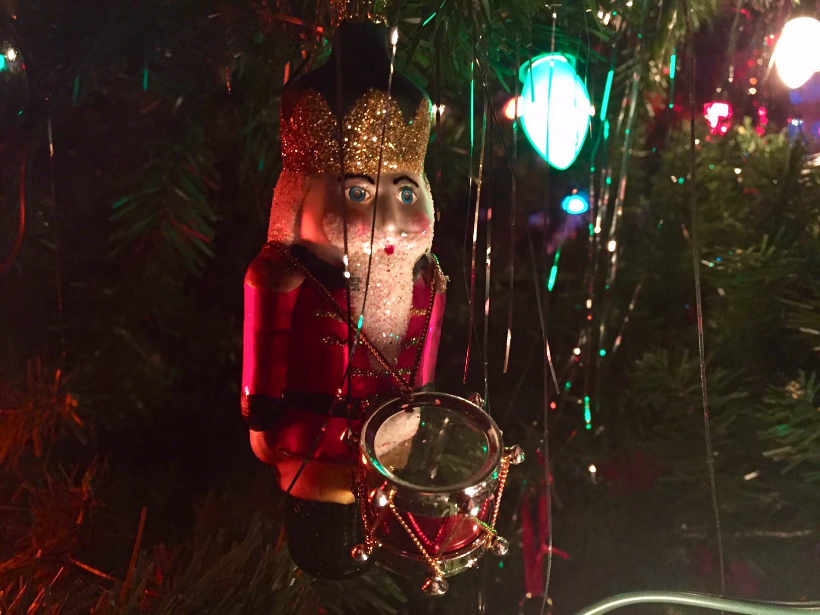 A festive nutcracker ornament featured at the Hearthstone Victorian Christmas in Appleton, December 17, 2017, (WLUK/Lauren Kalil)<p></p>