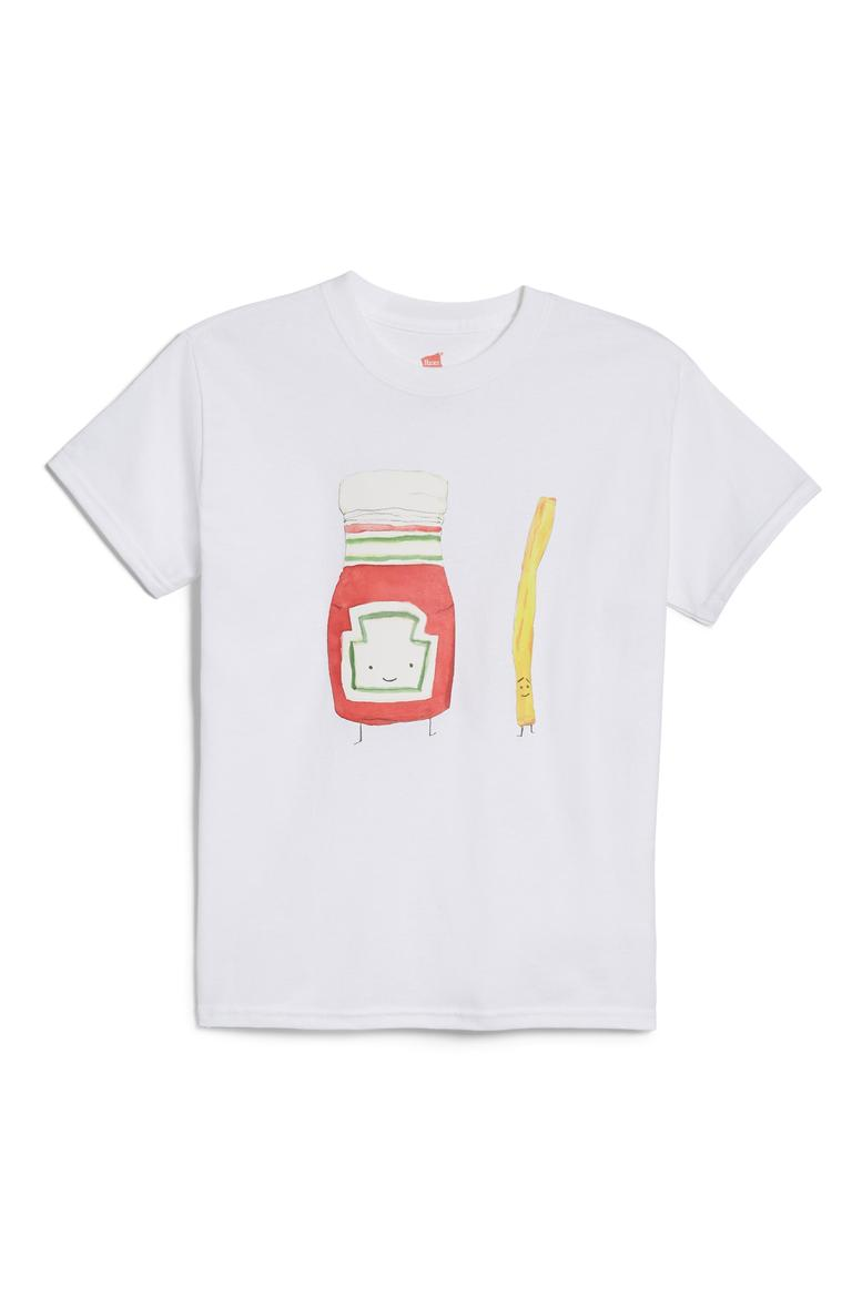 "Alessandra Olanow French Fries - $40. A good t-shirt never goes out of style. You can dress them up or down, but it's all about what statement your shirt is making! Here are our favorites from the Pop-In@Nordstrom x Hanes. This all-exclusive is a multi-branded collab using Hanes tee's as ""wearable art."" Well known brands and designers took to the task such as Warby Parker, Opening Ceremony, Saturdays NYC, Blair Breitenstein, A.L.C., and more. All these tees will be available at Nordstrom but online as well at nordstrom.com/pop (Image: Nordstrom)"